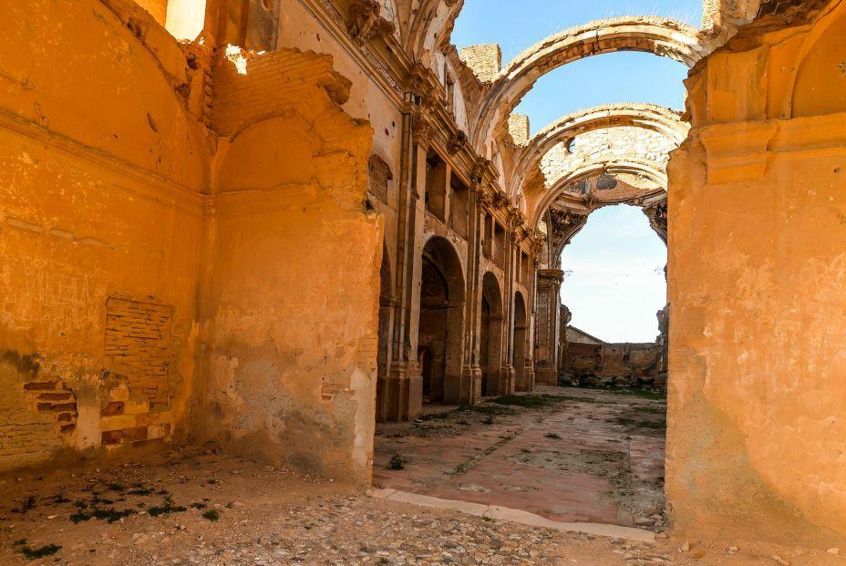 Ruinas de Belchite en Aragón