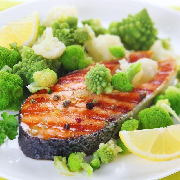 Un plato saludable (bigstock)
