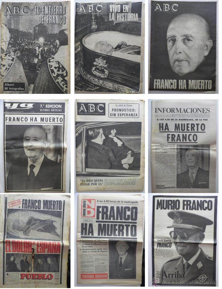 La muerte de Franco en la prensa