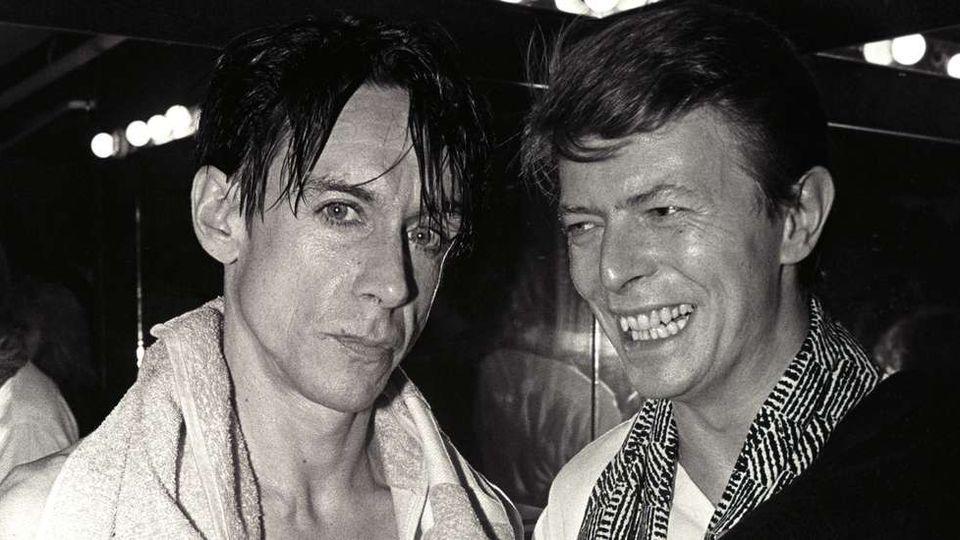 Iggy Pop con David Bowie