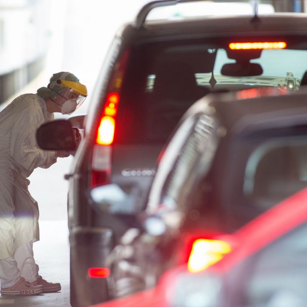 EuropaPress 3223487 pruebas covid 19 coche inmediaciones burela lugo galicia espana julio 2020