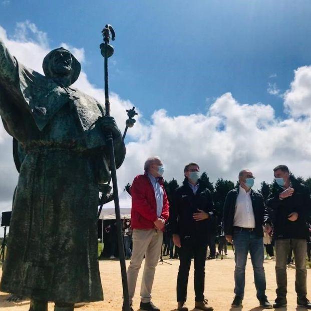 EuropaPress 3215717 monumento monte do gozo donde iniciado recorrido elcovid presidente xunta