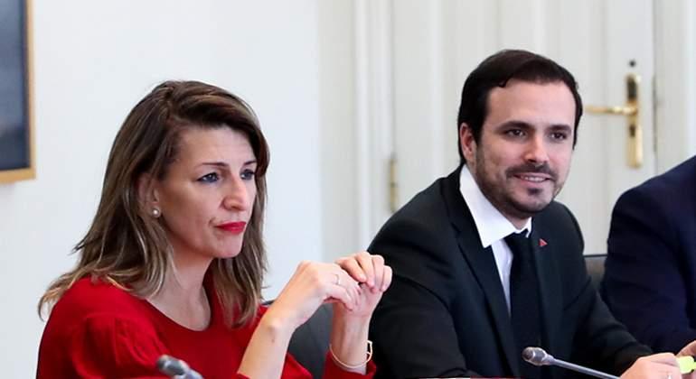 Yolanda Díaz y Alberto Garzón