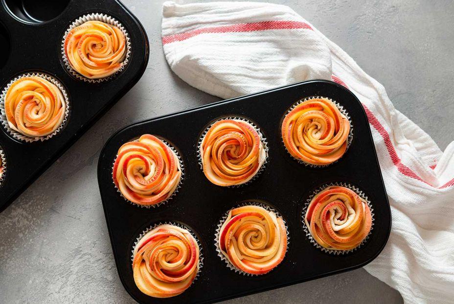 Receta de rosas de manzana y hojaldre