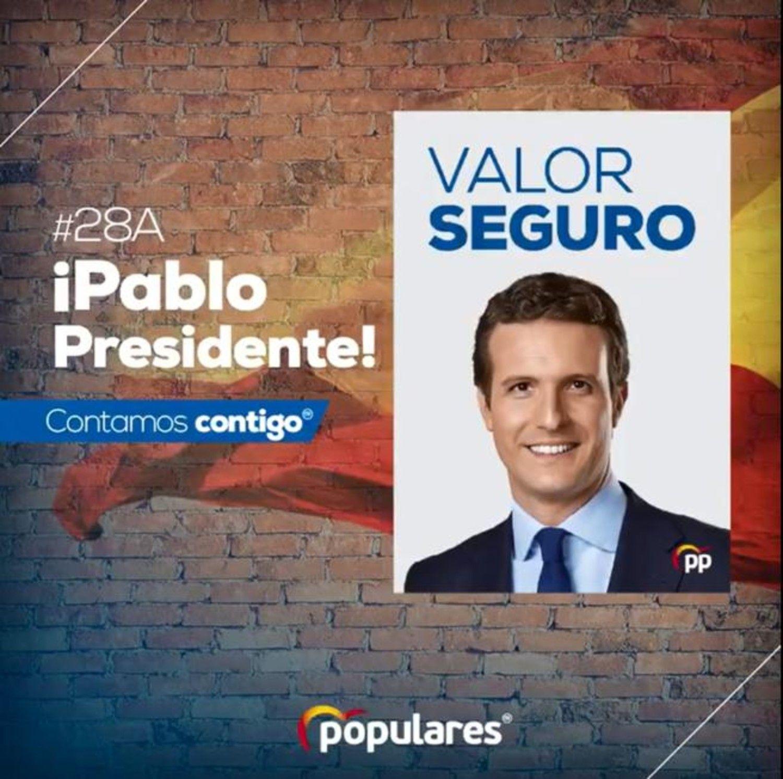 Cartel del PP.